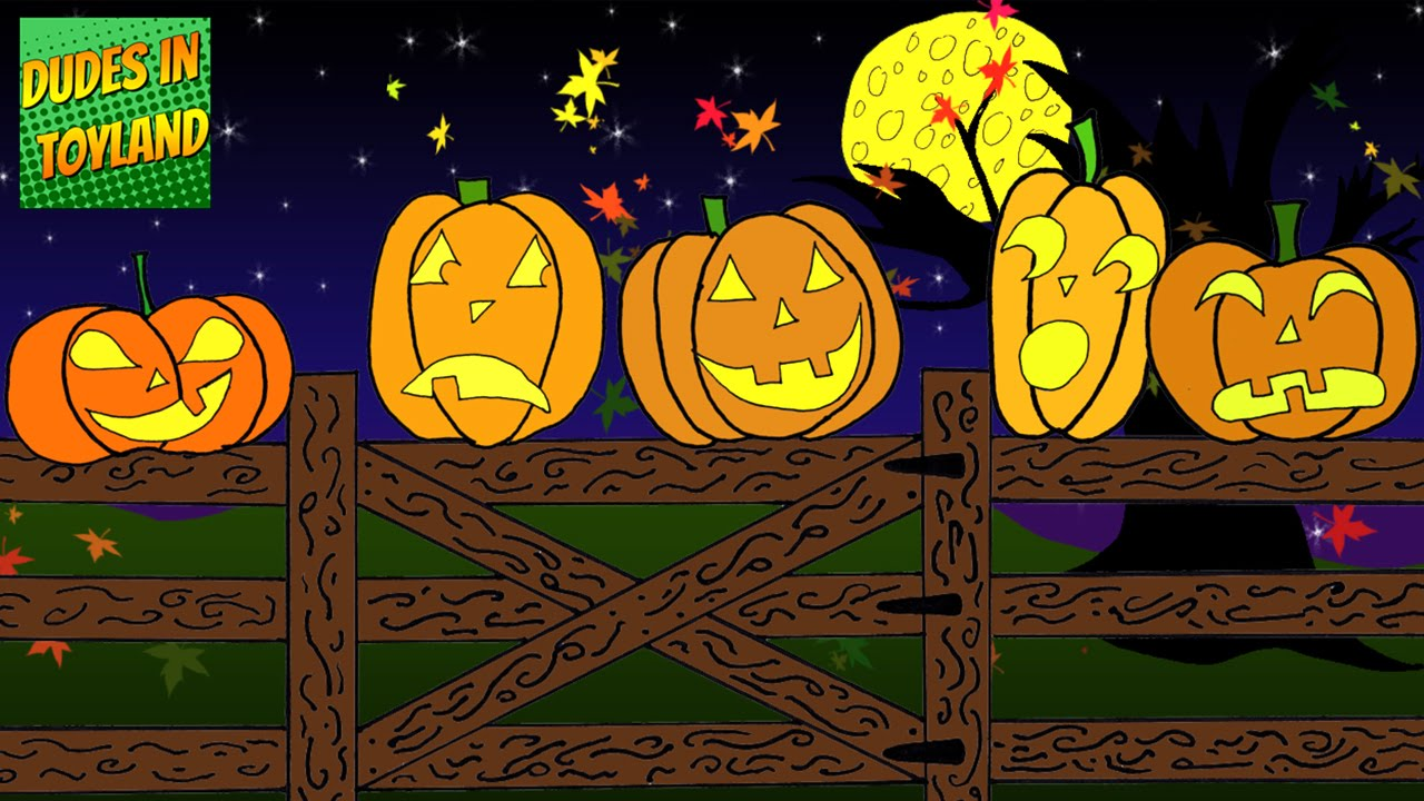five little pumpkins sitting on a gate halloween songs for kids cartoon youtube video youtube - Halloween Youtube Kids
