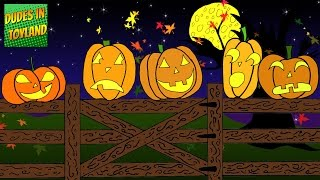 Five Little Pumpkins Sitting on a Gate - Halloween songs for children animated YouTube video