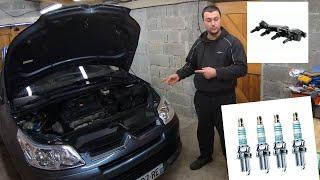 Remplacement Bougies et Bobine (allumage) Citroën C4, Peugeot 307 moteur 1.6L 16V 110CH