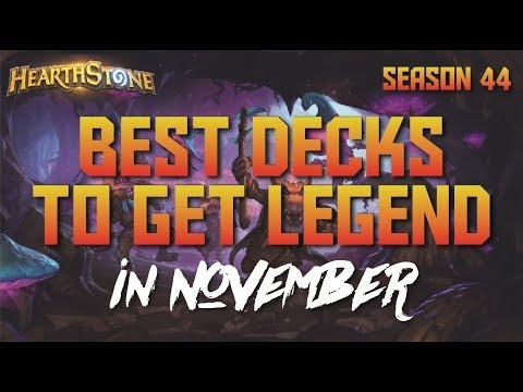 Hearthstone - Top Decks to Climb Ladder in November 2017 (Season 44) (Report #68)
