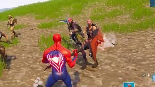 Spiderman Custom Skin in Fortnite Battle Royale