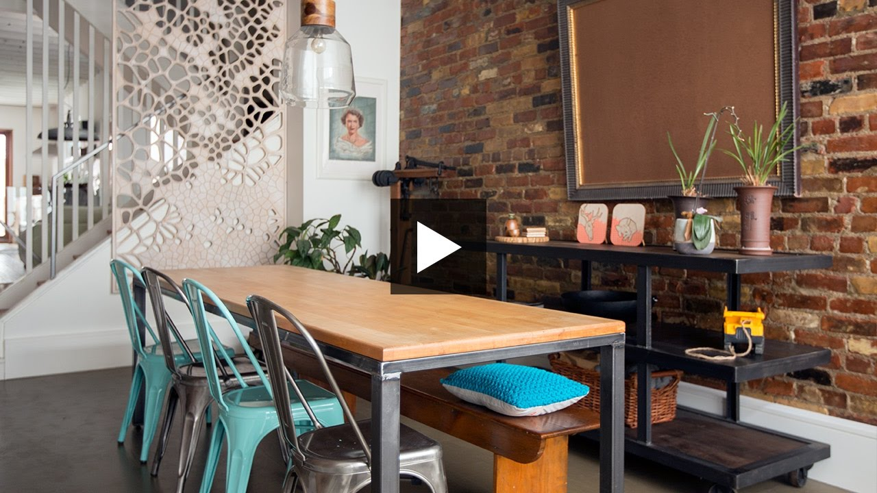 Interior Design — Small House Reno With Cool Vintage Finds YouTube