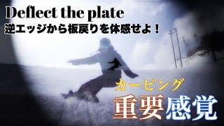 【重要感覚】カービングはここで踏む。谷回り逆エッジで捉えて板戻りを体感せよ! #14