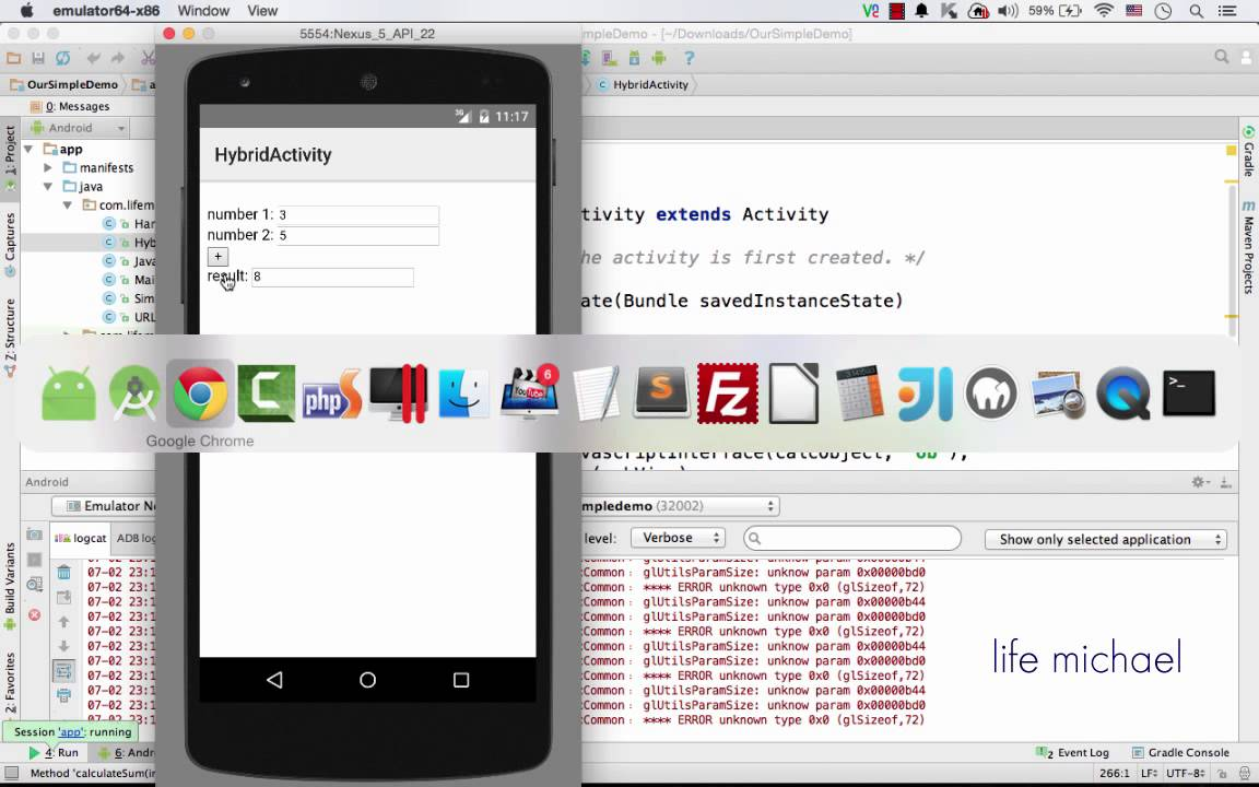 Writing Code in JavaScript Calling Functions in Java on Android