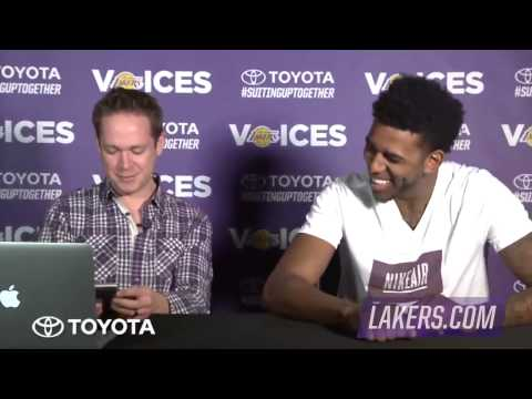 Nick Young   Swaggy P Answers Fan Questions   Lakers   December 22, 2014   NBA