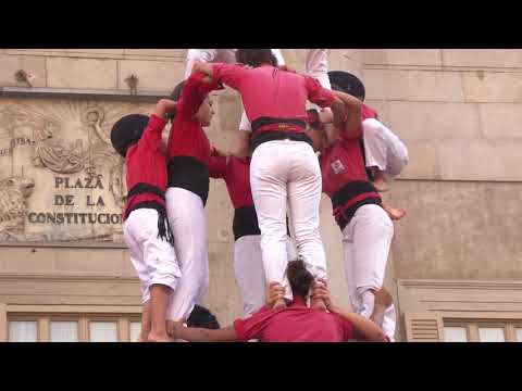 Castell in Barcelona, Human Towers of Catalunya, Spain