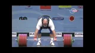 Men +105 kg clean & jerk European Weightlifting Championships Tirana 2013