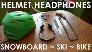Video How to make Helmet Headphones for Snowboarding/Skiing download MP3, 3GP, MP4, WEBM, AVI, FLV Agustus 2018