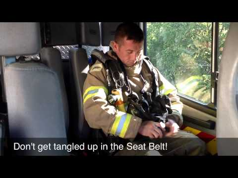 Basic Firefighter Training - Don SCBA in Apparatus Seat