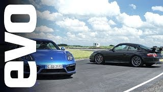Porsche 911 GT3 vs Cayman GTS | evo TRACK BATTLE