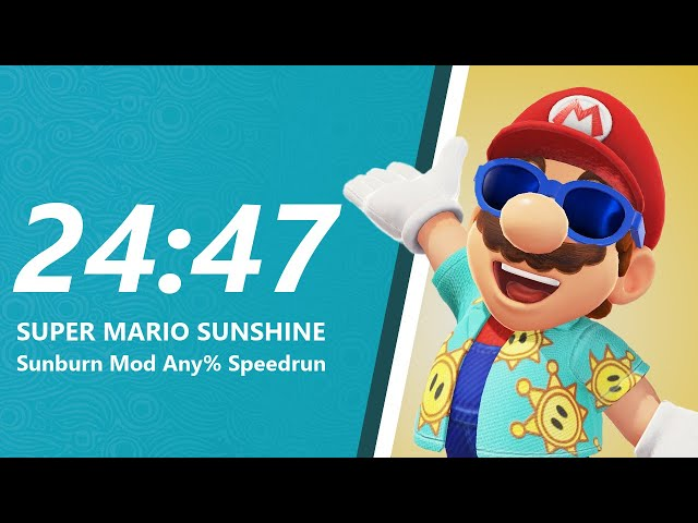 Super Mario Sunburn Any% Speedrun in 24:47