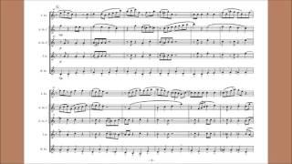 Sax5重奏で「どんぐりコロコロ」Swingです.