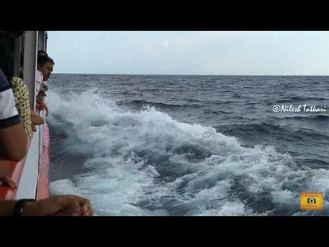 Andaman Tourism - Green Ocean Ferry Boat Journey from Port Blair to Havelock | Rainbow In Sea