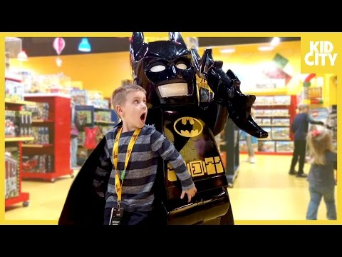 Giant Lego Batman Movie Unboxing with Batman Surprise Toys | KIDCITY