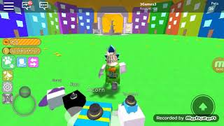 I play ROBLOX pet simulator Finally I flew off the rocket