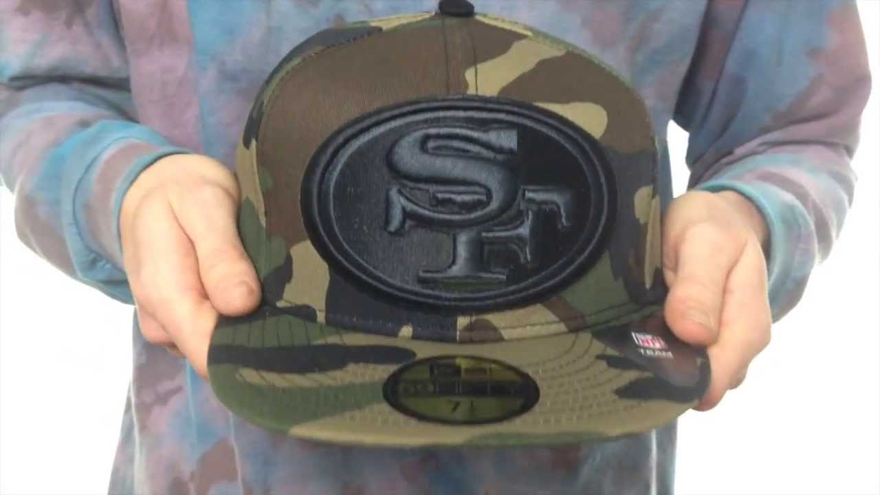 552590907 ... 49ers nfl mighty xl army camo fitted hat by new era ...