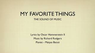 My Favorite Things - The Sound of Music - Piano Accompaniment