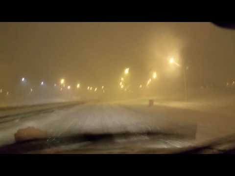 Snow fall record in Reykjavik 2017. Driving early in the morning, no accident or crash.