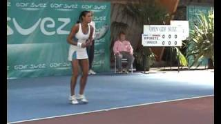 Stéphanie Foretz in Semifinal in ITF Joué les Tours 2008