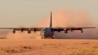 MC-130J Dirt Runway Landing/Takeoff