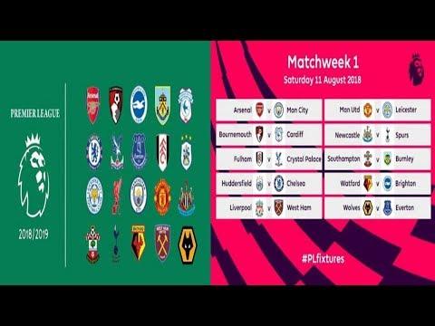 Inilah Jadwal Pertandingan Liga Inggris 2018 2019 Pekan Pertama