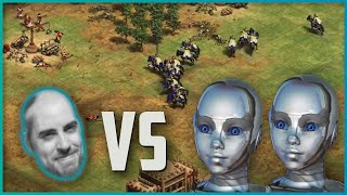 Barneys vs 2 IA extrêmes | Age of Empires 2 Definitive Edition
