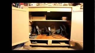 Low Cost Tool Cupboard - Repurposed Pallets. Cheap & Cheerfull Woodwork Project. Armoire à Outils