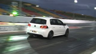 VW Golf R drag 1/4 mile