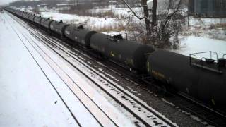 BNSF Fuel train passes through Carrollton, Mo.