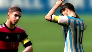 Video FIFA World Cup 2014: Argentina vs Germany (Final) Simulation (EA FIFA World Cup 2014 Brazil) download MP3, 3GP, MP4, WEBM, AVI, FLV Juni 2017