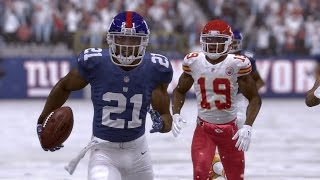 Madden NFL 17 (Xbox One) - Giants vs Chiefs Gameplay (Full Game) Snow Conditions
