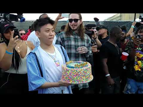 POST MALONE SURPRISES RICH CHIGGA WITH THE BEST BIRTHDAY GIFT OF ALL TIME!! | WITH POSTMATES!