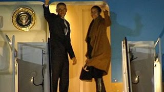 Raw: President Obama, Family Depart for Hawaii