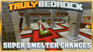 Truly Bedrock S1E56 Super Smelter Changes | Minecraft Bedrock Edition SMP, MCPE, MCBE
