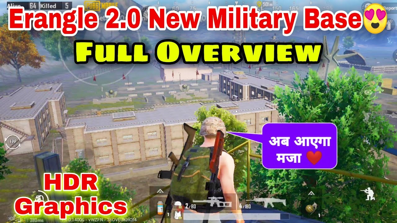 Erangel 2.0 New Military Base Full Overview In HDR Graphics   Military Base All New Changes