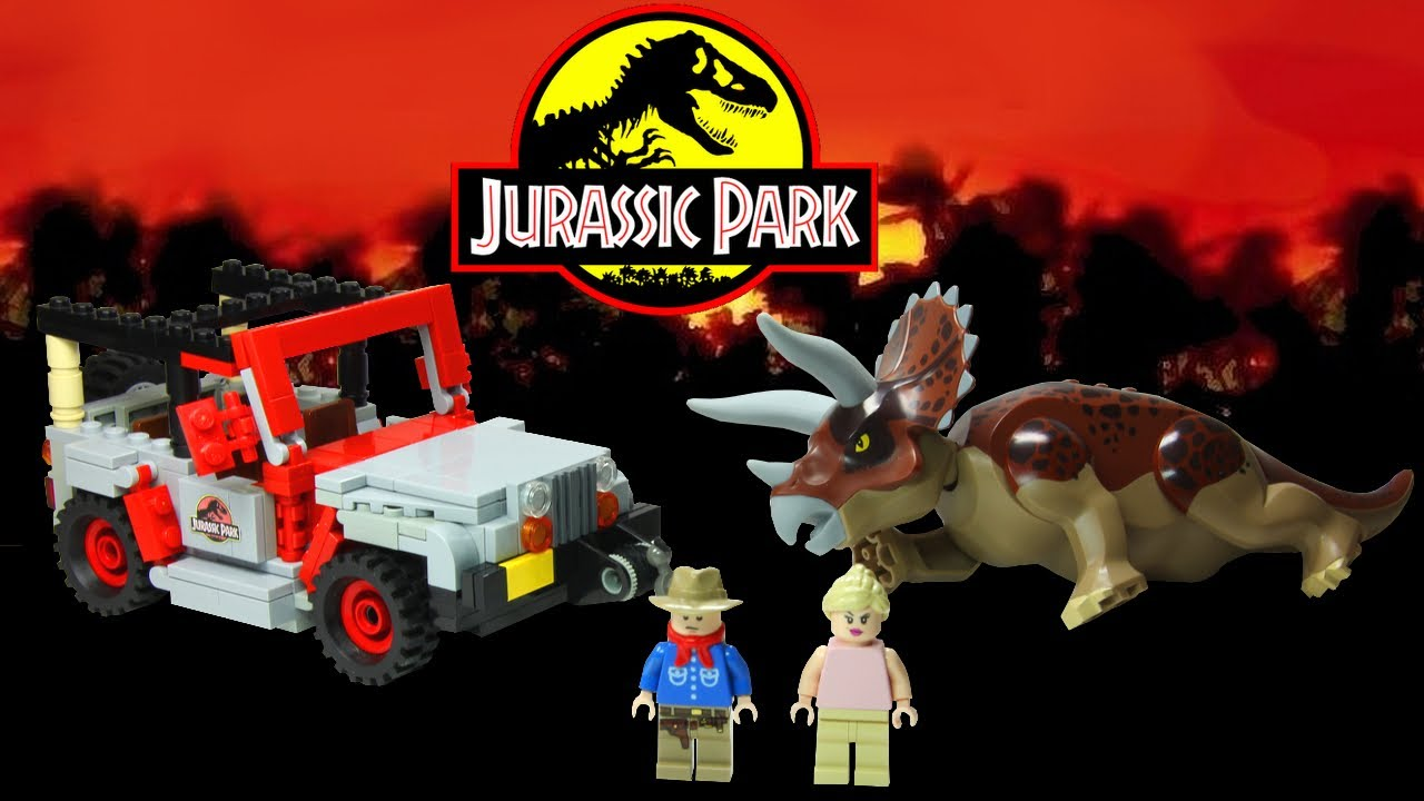 lego jurassic park triceratops encounter cuusoo project youtube