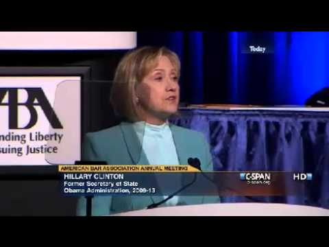 Hillary Rodham Clinton at the American Bar Association (ABA) [HQ]