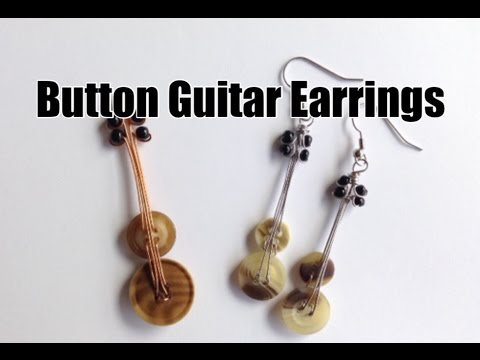 how to take out starter earrings diy guitar earrings made of recycled buttons for musicians 2305