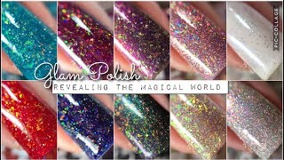 Swatches || GLAM POLISH Revealing The Magical World Collection | Rikki's Nails
