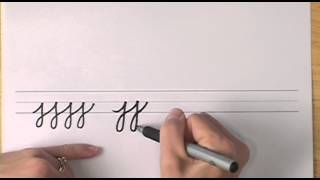 How To Write In Cursive // Lesson 19 // A Complete Course // Free Worksheets