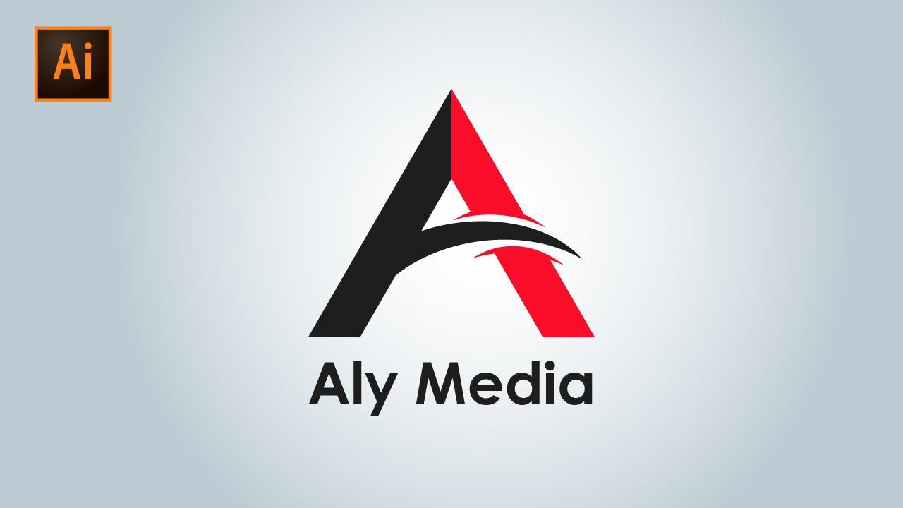 """""""A"""" Letter Logo Design Illustrator - YouTube"""