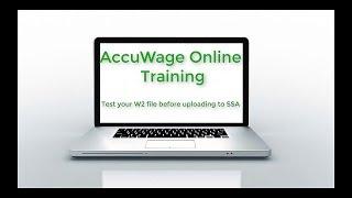 Datatech Training: AccuWage W2 Testing