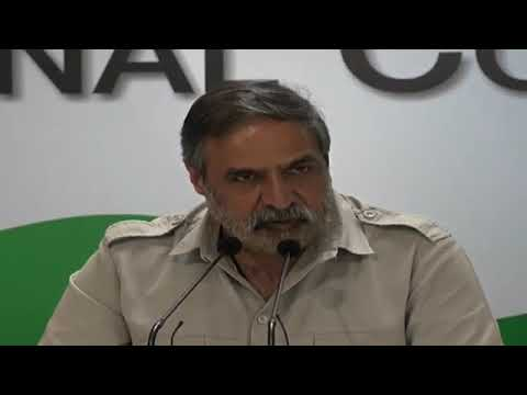 AICC Press Briefing By Anand Sharma at Congress HQ, September 12, 2017