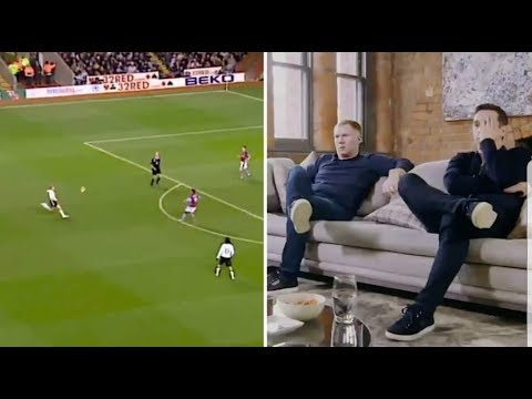 Paul Scholes reacts to the SCREAMERS he scored at Man United with Gary Neville!