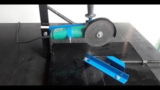 DIY tool! Homemade Table cutting machine from Angle Grinder