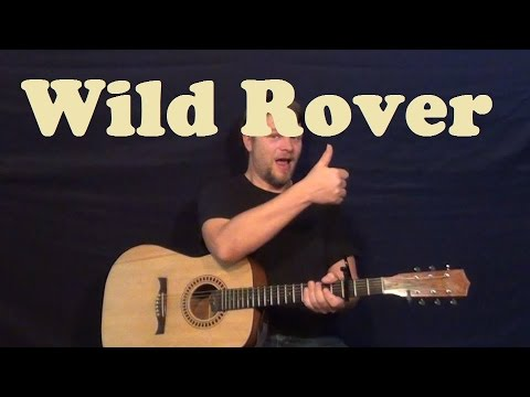 Wild Rover (Dubliners) Guitar Lesson Strum Chords How to Play Wild Rover Tutorial