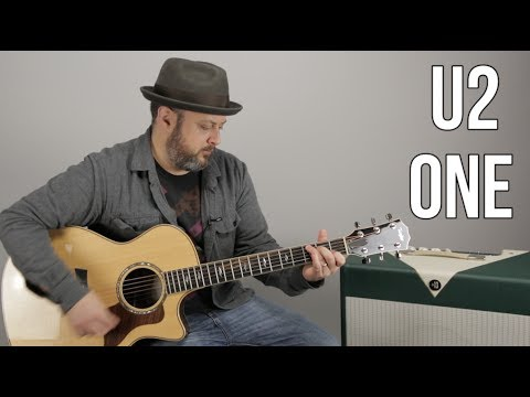 "U2 ""One"" Easy Acoustic Song Lesson For Guitar"