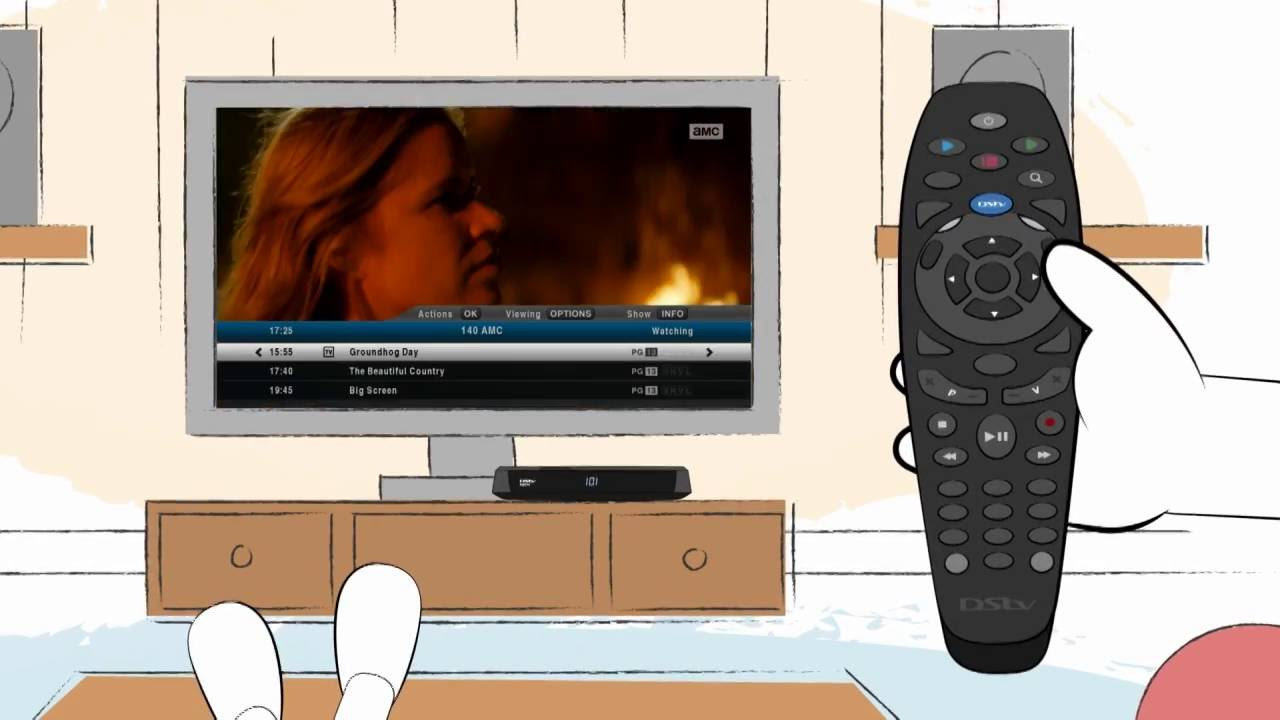 Viewing control with DStv