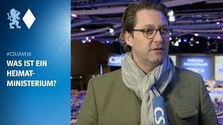 Andreas Scheuer erklärt, was ein Heimatministerium so macht.