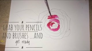 How To Draw And Paint A Rose (super easy)